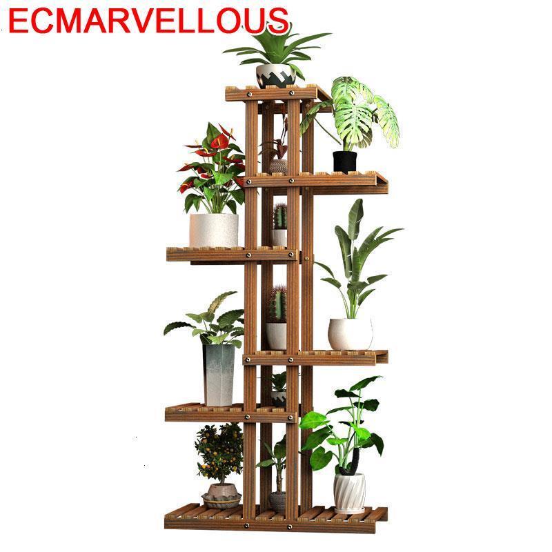 Pour Plante Estanteria Jardin Huerto Urbano Madera Suporte Flores Rack Balcony Shelf Stojak Na Kwiaty Outdoor Flower Plant Stand