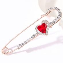 Broche de boda de cristal con diamantes de imitación y perlas de moda, Pin vintage con flores de animales, broche para Jersey, accesorios para regalos de joyería