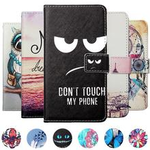 цена на For Jinga Basco L3 (N) L400 L451 L500 M500 3G 4G Iron Phone case Painted Flip PU Leather Holder protector Cover