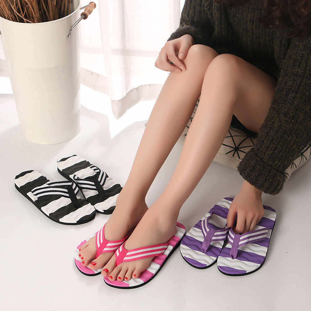 Mnycxen/женские шлепанцы; Летние вьетнамки в полоску; сандалии; домашняя обувь для пляжного отдыха; шлепанцы для ванной; z80