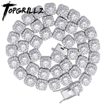 """10MM Quality Prong Set Big Size Solitaire Tennis Chain Necklace Mens Iced Out Bling CZ Charm Hip Hop Fashion Jewelry 18"""" 22"""""""