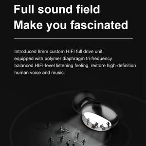 Image 4 - سماعة رأس لاسلكية FLUXMOB AIR 3 TWS ، سماعة رأس رياضية صغيرة مزودة بتقنية Bluetooth 5.0 مع صندوق شحن للهواتف الذكية xiaomi samsung