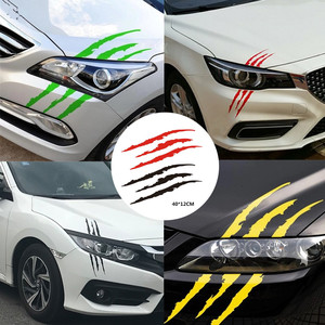 29x17 cm Funny Car Sticker Reflective Monster Scratch Stripe Claw Marks Auto Headlight Decoration Vinyl Decal Car Stickers #PY10(China)
