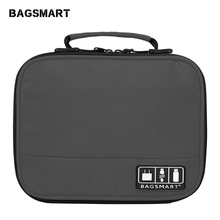 BAGSMART Electronic Accessories Organizers Bag For Earphone Data Cables USB