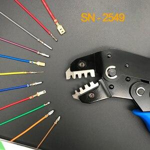 Image 1 - Tel elektrot kesim crimper sıkma aracı Dupont 2.54/XH2.54/2.8/3.96/4.8/2510 /5557 terminali 0.08 1.0mm2 AWG28 18 pense
