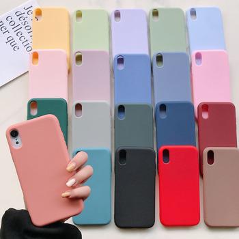 Silikonowy futerał na telefon dla iPhone 11 12 Pro Max mini luksusowy miękki cukierek pokrywa dla iPhone iPhone XR XS X 6 6S 7 8 Plus przypadki tanie i dobre opinie CN (pochodzenie) Aneks Skrzynki Urządzenia iPhone Apple iPhone 11 Pro Max Zwierząt wodoodporne Odporna na brud Anti-knock
