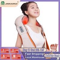 Jinkairui U Form Auto/Home/Büro Neck Massager Elektrische Shiatsu Schulter Zurück Körper Massage Infrarot 3D Massagem