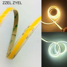 ZZEL ZYEL высокая плотность гибкий FR4 cob/Fob светодиодный светильник 14 Ватт/м 12 В 24 в белый/теплый белый/желтый/красный/синий/зеленый 0,5 м-5 м