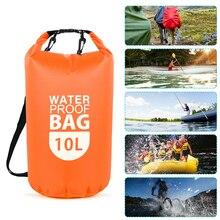 10L PVC Dry Waterproof Floating Bag Roll Top Dry Bag Water Sports Storage Bag Lightweight Dry Sack River Trekking Bags