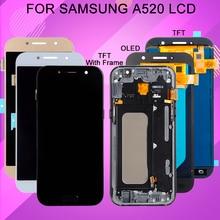 Catteny 5,2 дюймов A520 дисплей для Samsung Galaxy A5 2017 LCD с сенсорным экраном дигитайзер сборка Замена A520F дисплей + рамка