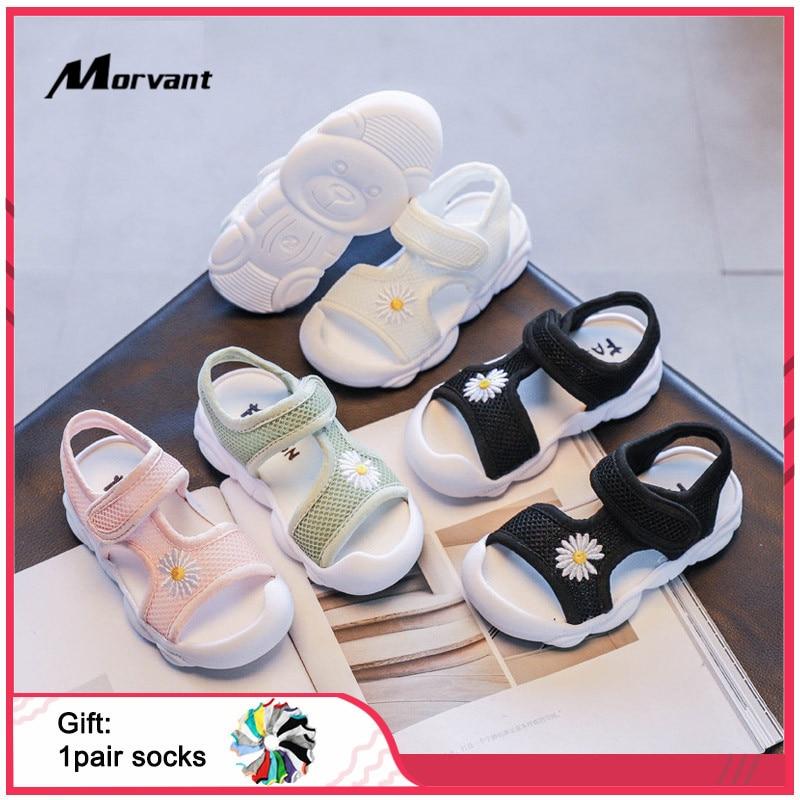 Baby Girls Sandals Cute Princess Girl Shoes Soft Comfortable Toddler Children's Sandals Lightweight Kids Beach Shoes