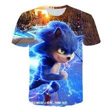 Kids T-Shirt Sonic Hedgehog Girls Children Funny 3d-Printed Baby Cartoon Summer Lightning