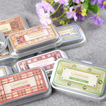 JIANWU 1pc CQ  iron box retro printing pad quick-drying inkpad rubber stamp clear stamps for scrapbooking