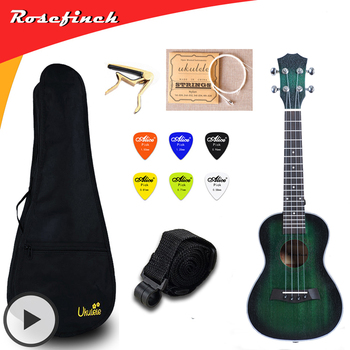 23 inch Concert Ukulele Electric Mini Guitar Mahogany Ukelele with Bag Capo String Strap Picks Gift Hawaii Guitar UKU UK2329A metal guitar capo with bridge pin remover fit for acoustic electric guitar bass ukulele mandolin soprano concert tenor baritone