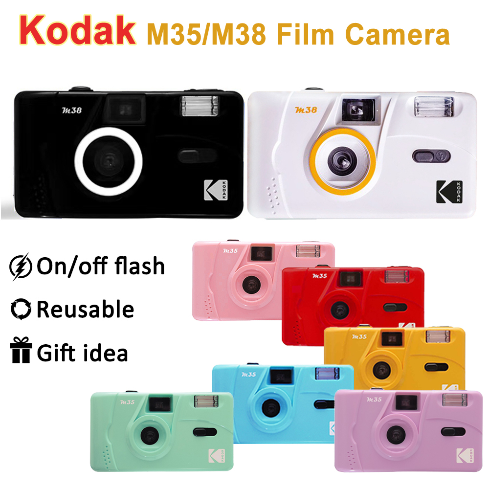 Camera Reusable-Film KODAK Retro Vintage 35mm Red/cobalt-Blue M35/m38