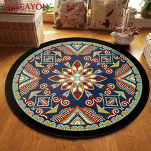 Bohemia Rugs Ethnic Round Carpet For Home Living room Kids room Floor Door Mat Luxury Carpet Retro Bathroom Rug  tapis chambre