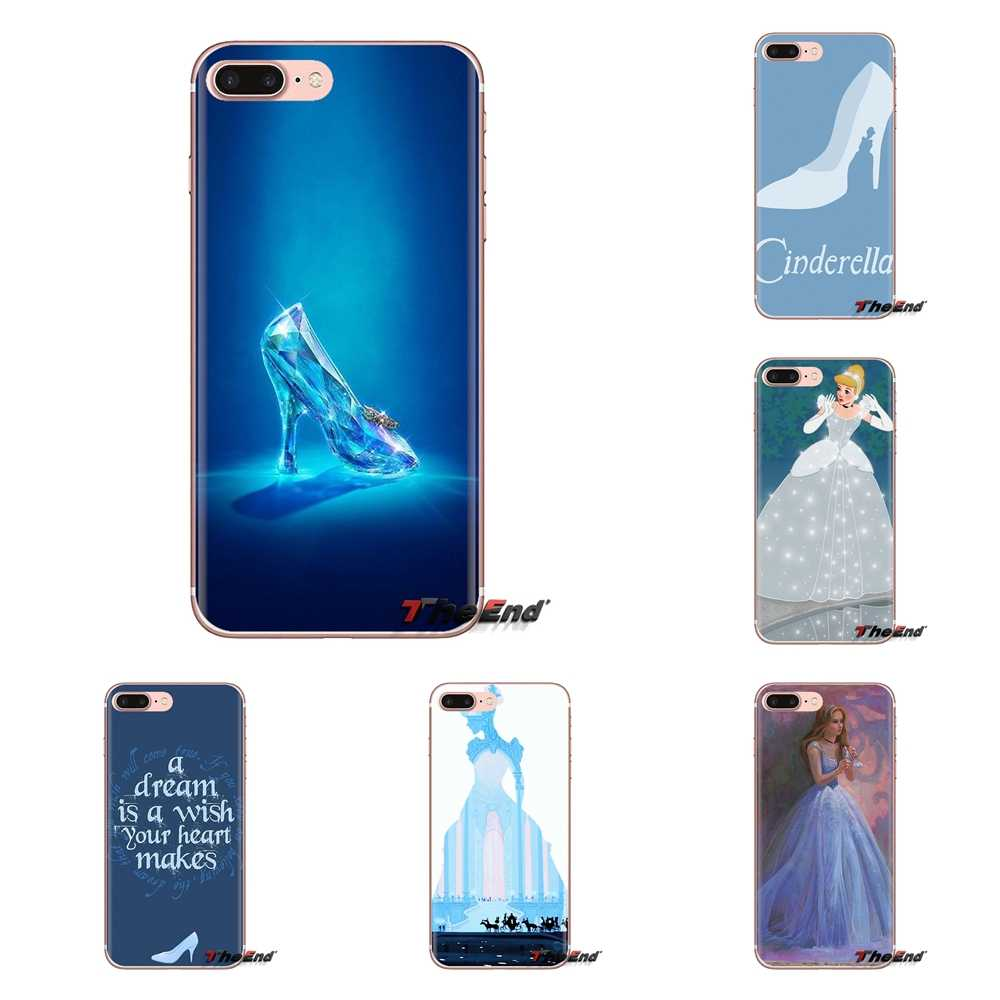 Cinderella Glass Slipper Kasteel Voor Samsung Galaxy A3 A5 A7 A9 A8 Ster A6 Plus 2018 2015 2016 2017 Zachte transparante Shell Covers