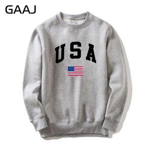 Image 1 - GAAJ USA America Flag Men Women Sweatshirt Casual Hooded Printed Popular Fleece Man Jacket Sweatshirt Homme Brand Clothing