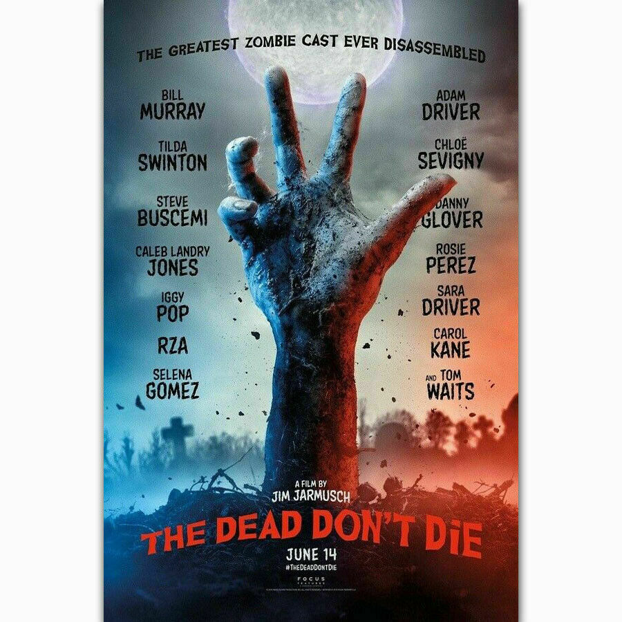 Hot The Dead Dont Die Horror Movie Bill Murray Film Wall Sticker Silk Poster Art Light Canvas Home Decoration image