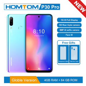 Image 1 - Global version HOMTOM P30 pro MT6763 Octa Core 4GB 64GB Smartphone 6.41Inch Android 9.0 Rear 13MP Triple Cameras Mobile Phone