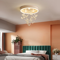 Hummingbird modern LED chandelier for dining room bedroom study room children room pink/white/brown chandelier lighting lustres