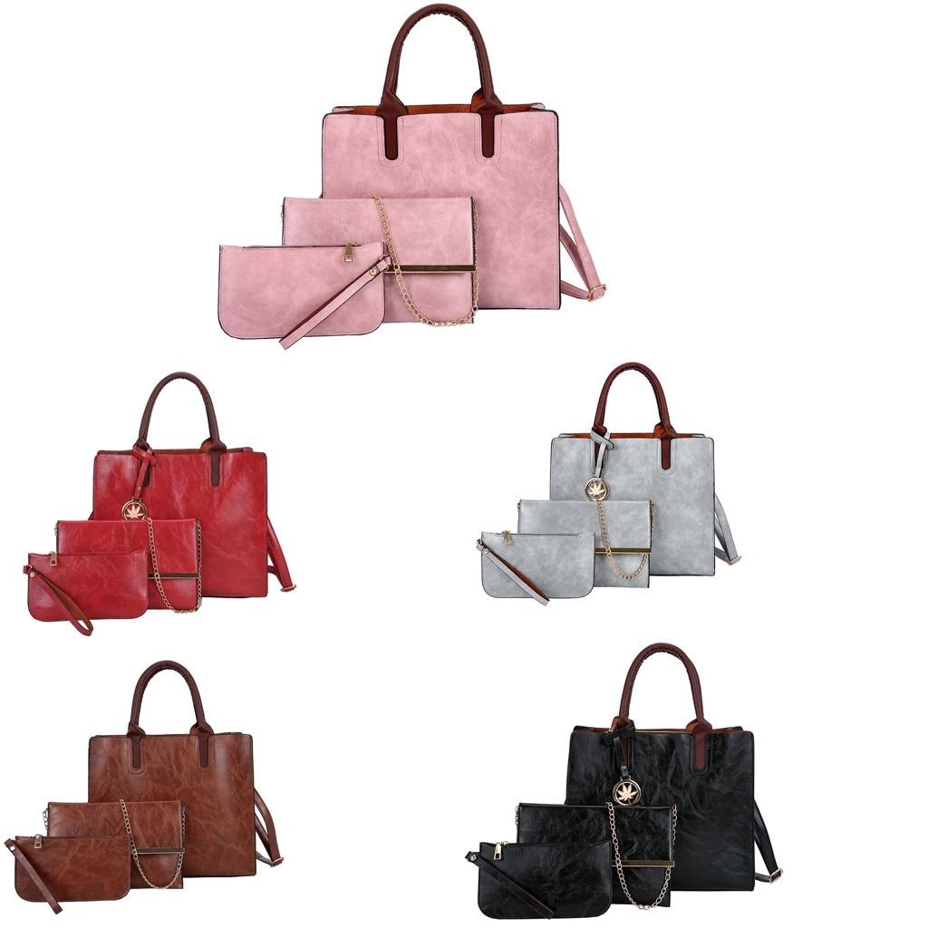 Ensemble sacs 3 pièces mode en cuir PU dames sac à main 62