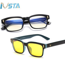IVSTA Blue Light Glasses Frame Men Computer Glasses Gaming Nerd Anti Blue Rays Optical Prescription Myopia Polarized Sunglasses(China)