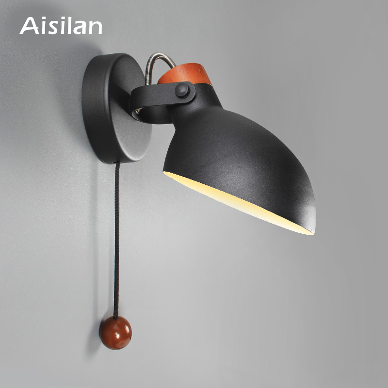 Aisilan Simple Creative Wall Light Led Bedroom  Foyer Study Nordic Design Living Room Corridor Hotel Wall Lamps Hotel Corridor
