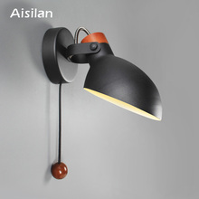 Aisilan Simple creative wall light led bedroom  Foyer Study Nordic design living room corridor hotel wall lamps Hotel Corridor цена