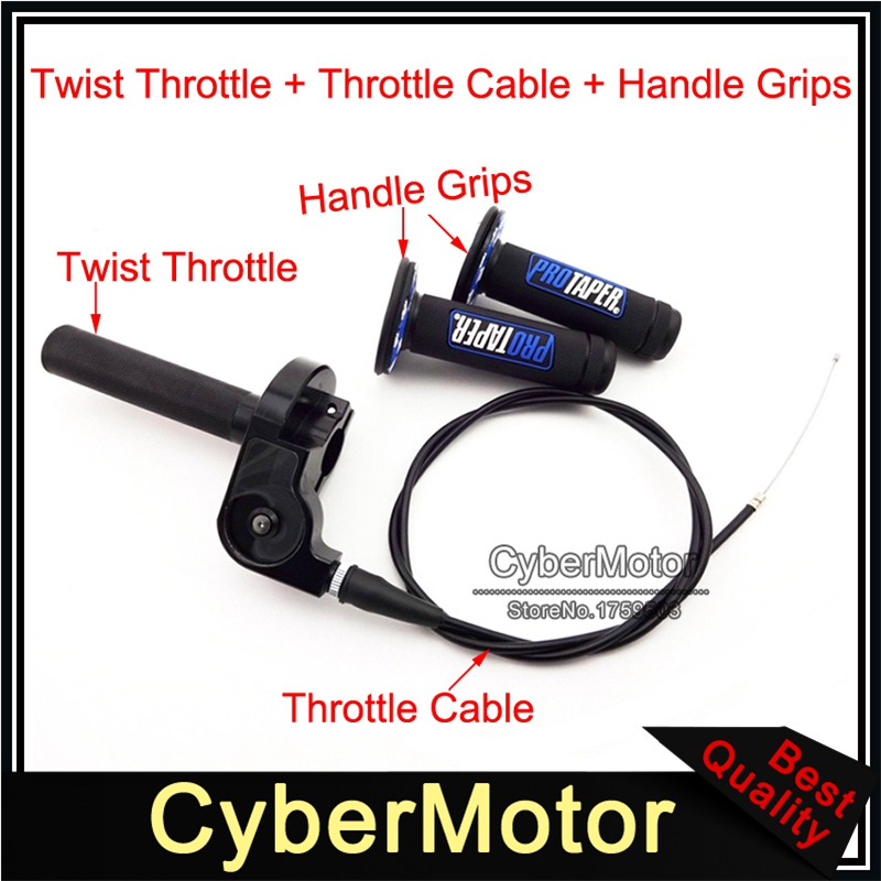 2x Moped Scooter Throttle Turn Handlebar Grip Cable For Gy6 125-150cc Motorcycle