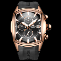 Reef Tiger/RT 2020 Luxury Waterproof Sport Watches Date Rose Gold Rubber Strap Military Mens Watches Relogio Masculino RGA3069 T