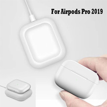 Беспроводное зарядное устройство QI, зарядный коврик, умная док-станция для наушников Airpods Pro 2019 QI, Bluetooth, зарядная подставка для наушников Air ...