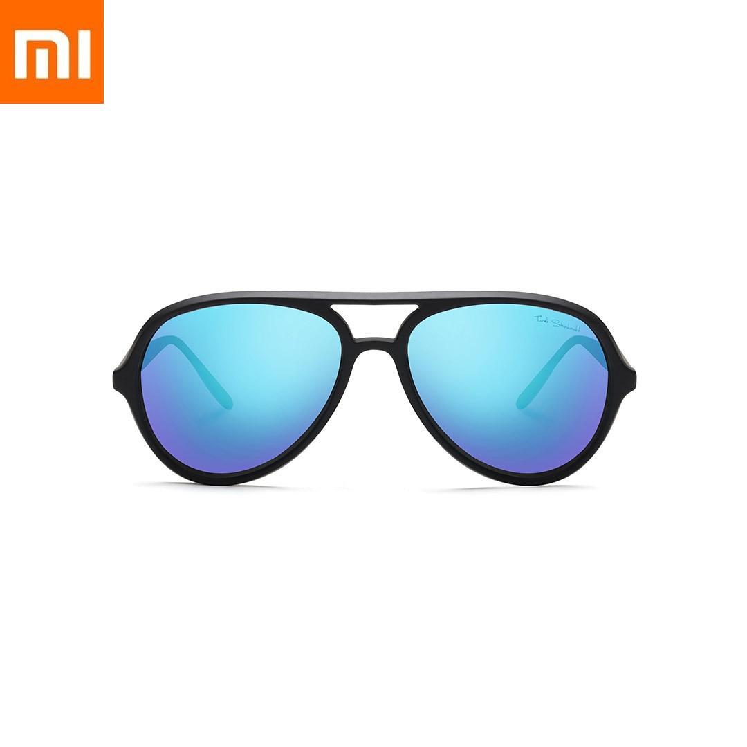 Xiao mi mi JIA mi home Ts lunettes de soleil pilote bleu glace style mode Tac polarisant lentille grand cadre miro Xio mi mi pour cadeau voyage