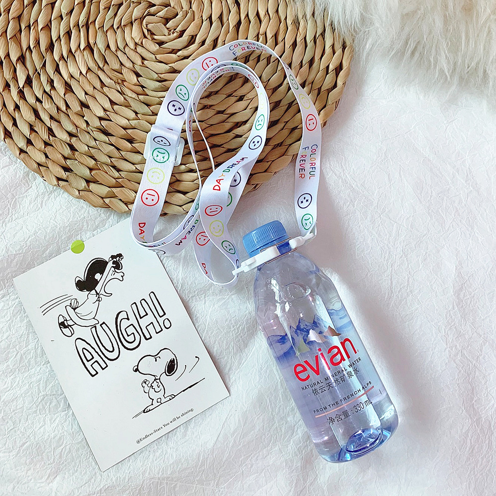 Japanese-style Cute Weep Yafeng Mineral Water Beverage Bottle Water Suspender Strap GIRL'S Heart Portable Water Suspender Strap