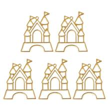 5pcs Fairy Castle Resin Frames Open Bezels Setting Blank Pendant Jewelry Making 634D(China)