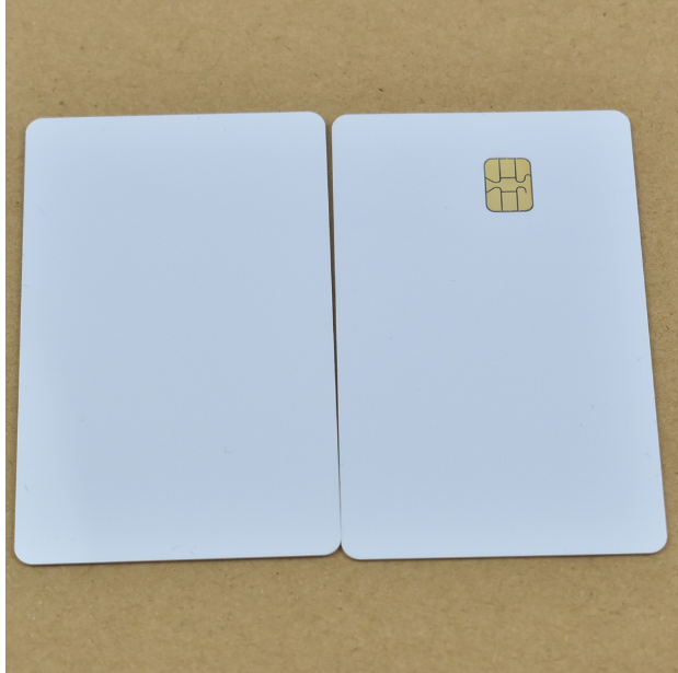 10pcs/lot ISO7816 White PVC Card With SEL 4442 Chip Contact IC Card Blank Contact Smart Card