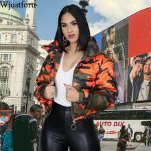 Wjustforu Winter Camouflage Down Jacket Ladies 90% White Duc