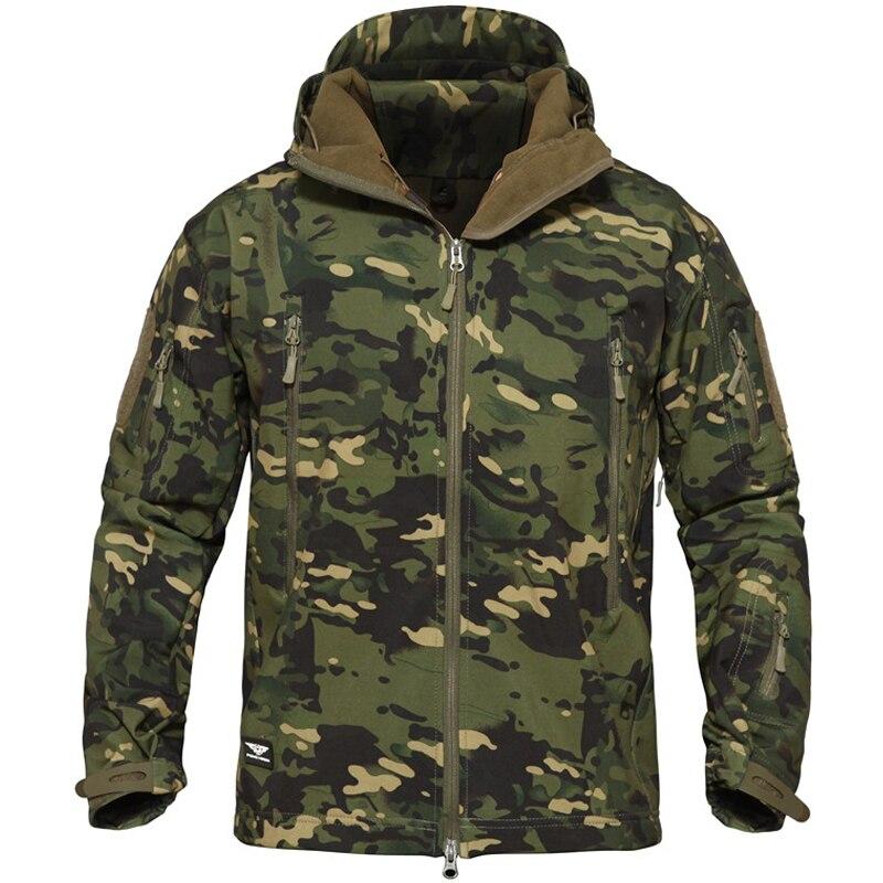 Camouflage Set Winter Outdoor Warm Tactical Trousers Fleece Softshell Jacket Men Trekking Hunting Hiking Waterproof Pants Women