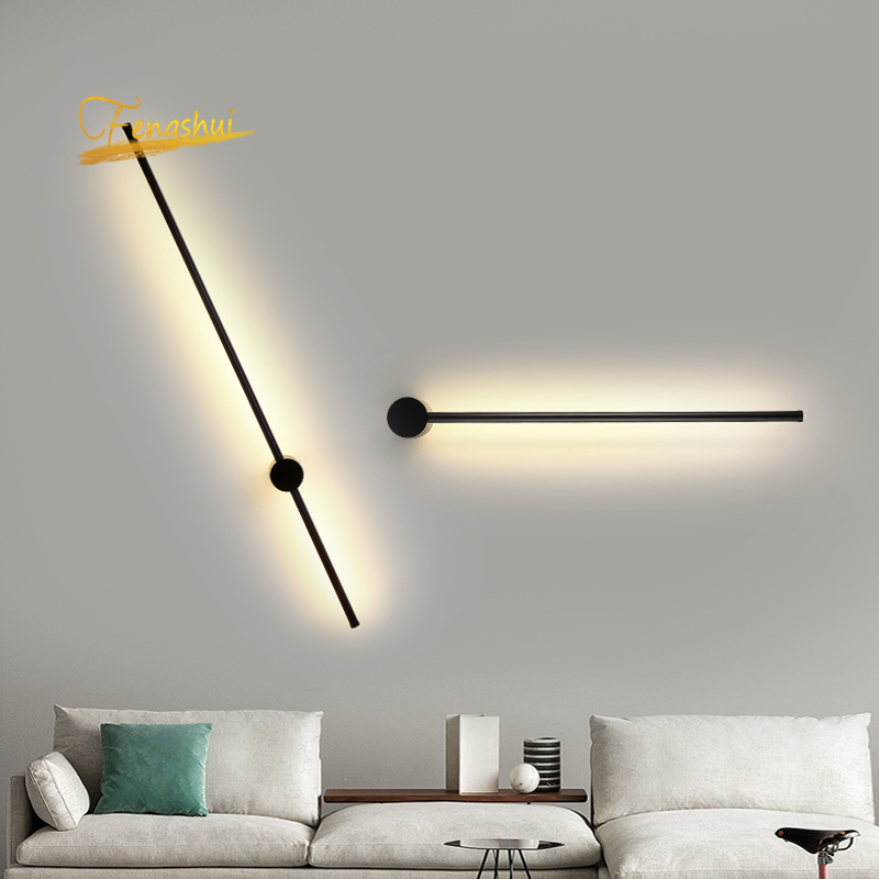 Dimming LED Wall Lights Nordic Loft Acrylic Background Indoor Lighting Home Decor Wall Lamp Aisle Luminaries Wall Candlle Lights