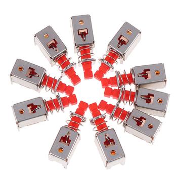 10 sztuk Hot New DPDT podwójny biegun 6 Pin samoblokujący klucz przełączniki zasilania PS-22F03 kątowy PCB przycisk zatrzaskowy przełączniki tanie i dobre opinie CN (pochodzenie) self-locking Stop key switch A03 PS-22F03 Przełącznik Wciskany