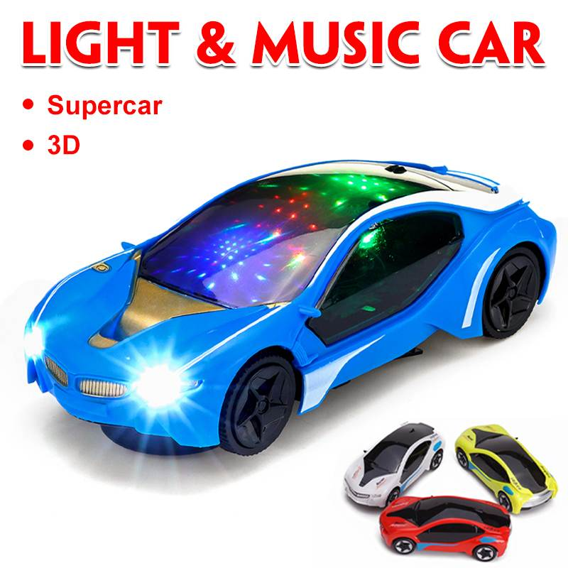 Mini Electronics LED Flashing Lights Car With Music Sound Car Play Vehicles Diecast Model Toys Birthday Gift For Kids