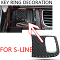 1 шт., автомобильные наклейки из углеродного волокна для Audi A6 C6 C7 A1 A3 A4 B5 B6 B7 B8 A5 C5 A7 TT Q3 Q2 Q5 Q7 quattro