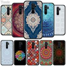 Indian Pattern Mandala Fitted Case for Xiaomi Redmi Note 8T 6 7 8 K20 Pro 8A 7A 7S 6A Silicone Black Phone Bag Cover Coque pubg game fitted case for xiaomi redmi note 8t 6 7 8 k20 pro 8a 7a 7s 6a silicone black phone bag cover coque