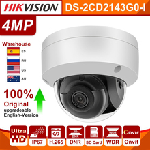 Ip-Camera Network Hikvision Security DS-2CD2143G0-I 4MP H.265 with Sd-Card-Slot IR Original