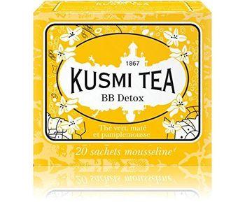Kusmi Tea - Thé Bien-Être BB Detox - Mélange de Thé Vert, Maté et de Plantes, Aromatisé Pamplemousse - Idéal en Glacé - Boîte de фото
