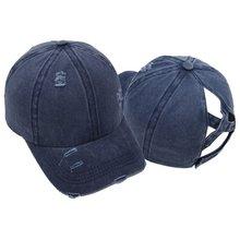 Женская винтажная бейсбольная кепка с эффектом потертости крест