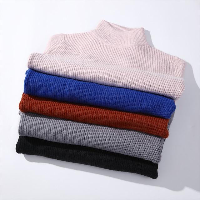 De calidad superior suéter de Navidad para hombres ropa de invierno 2020 grueso cálido suéteres Casual clásico cuello jersey de Cachemira de los hombres 6