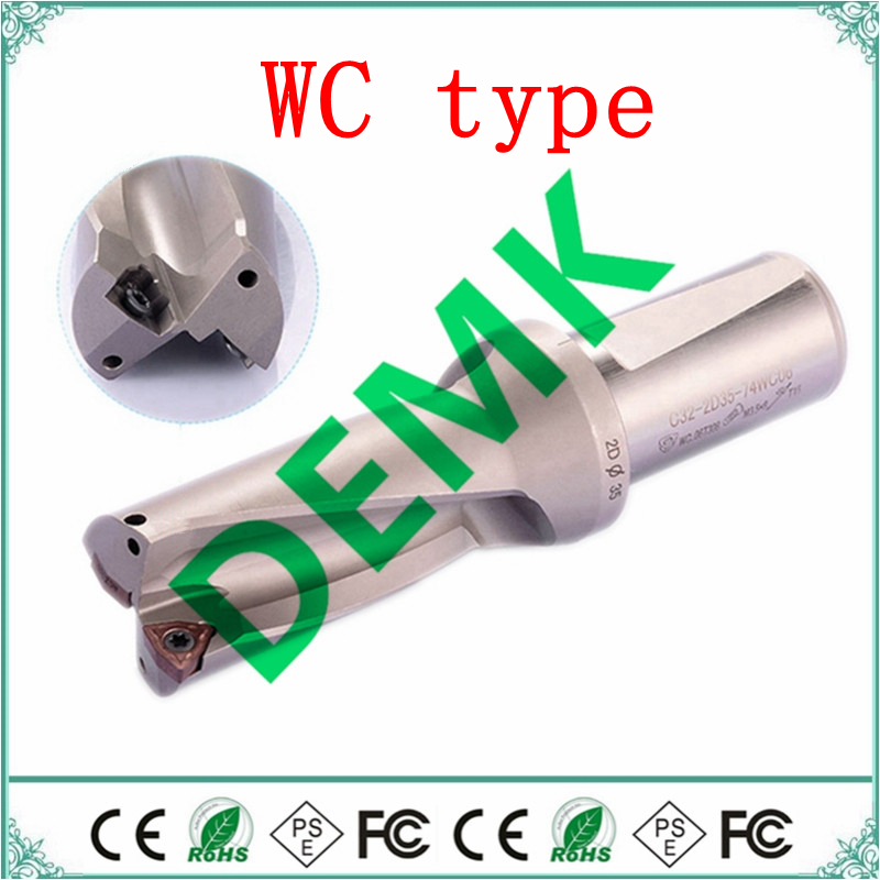 13mm-50mm 2D 3D 4D depth fast drill U drill Indexable bit drilling for Each brand WCMX WCMT series insert mechanical Lathe CNC(China)
