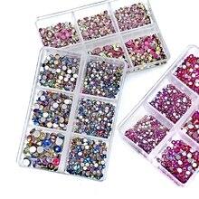Cristal inhabituel AB 1350, mélange de tailles, strass non correcteurs, dos plat, pierre, paillettes de verre, ensemble de diamants