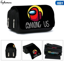 Pen-Bag Cosmetic-Case Pencil-Box Stationery Among Us Cartoon Students Game Girls Kids